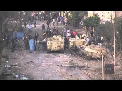 Military Prevents Confrontation between Protesters and Police in Cairo
