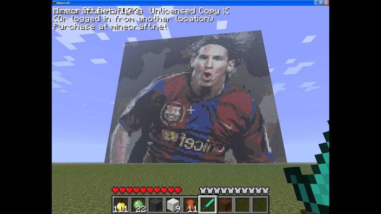 Messi - Minecraft art ...