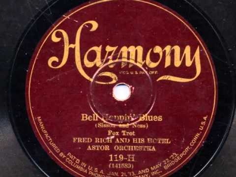 Bell Hoppin' Blues by Fred Rich and his Hotel Astor Orchestra, 1926 online metal music video by FRED RICH