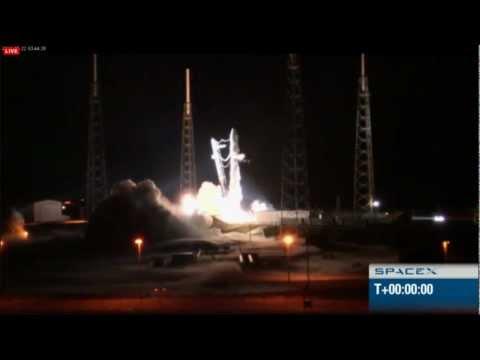 SpaceX Falcon 9 Dragon SUCCESSFUL Launch Attempt 5/22/2012 HD