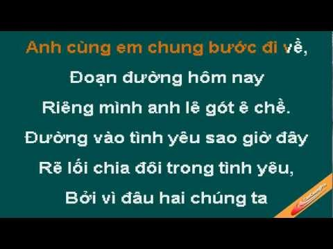 Neu Luc Truoc Em Dung Toi Karaoke - Quang Vinh - CaoCuongPro