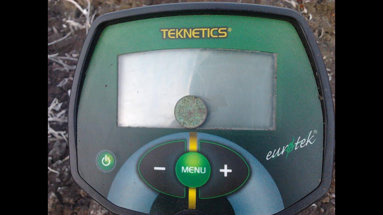 Тест глубины металлоискателя текнетикс евротек 8.