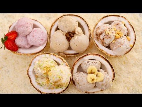 5 NEW Homemade Ice Cream Flavors + Dairy-Free Coconut Ice Cream Recipe (No Machine)