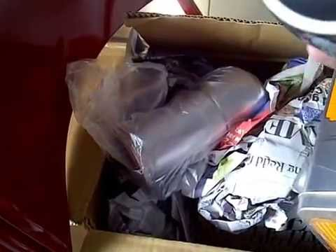 Opening a package -  my prize for winning a contest conducted by Cafe Coffee Day (part 2)