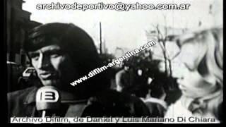 Yazalde entrevistado em Buenos Aires com a sua mulher Maria do Carmo (Carminzé) a 29/06/1973