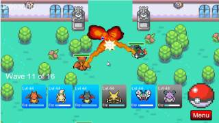 Pokemon Tower Defense| Celadon Gym Tutorial| HD