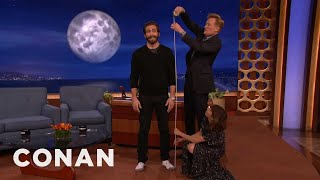 Starlee Kine & Conan Crack The Mystery Of Jake Gyllenhaal's Height  - CONAN on TBS