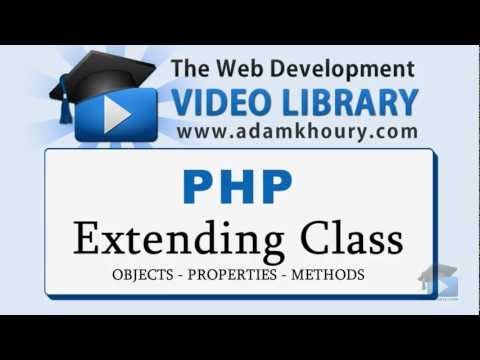 PHP Tutorial - Extend Class Object Oriented Programming OOP