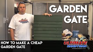 How to make a Feather edge garden gate