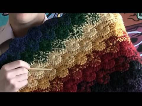 Crochet Stitches Left Handed : Left Hand: How To Crochet Catherine Wheel Stitch - YouTube