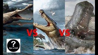 Loài cá sấu mạnh nhất trong lịch sử: Sarcosuchus vs Deinosuchus vs Purussaurus || Bạn Có Biết?