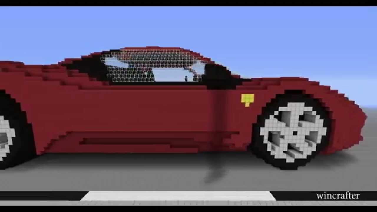 Minecraft Car Ferrari 458 Youtube