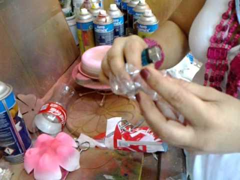 Flores de plastico reciclado 4 avace tutotial youtube - Flores de plastico ...