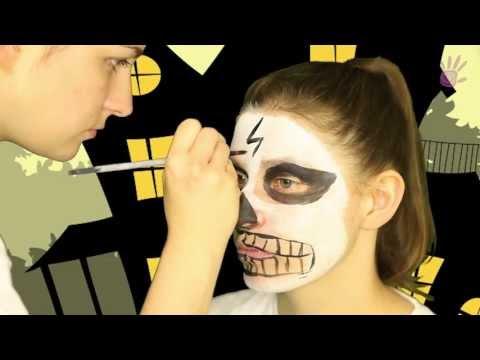 Malowanie buziek, Malowanie twarzy # 9 - Kościotrup /Trupia czaszka