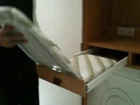 Tabla de planchar para armario youtube - Muebles con tabla de planchar ...