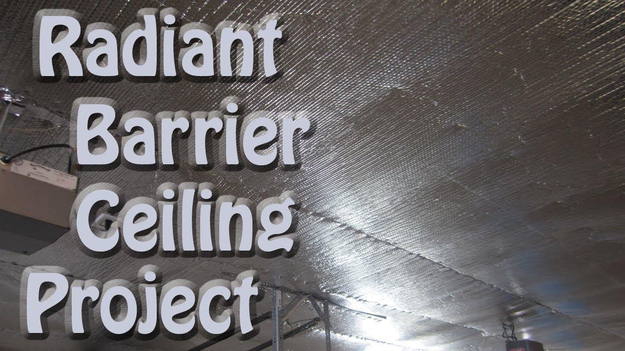 Reflectix Bubble Foil Radiant Barrier Garage Ceiling