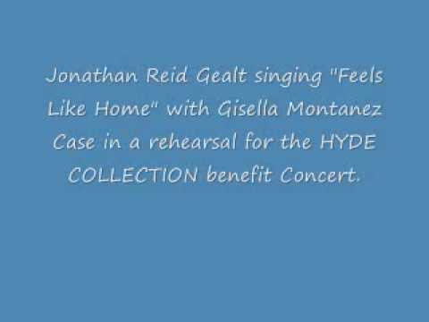 Jonathan Reid Gealt singing Feels Like Home with Gisella Montanez Case.