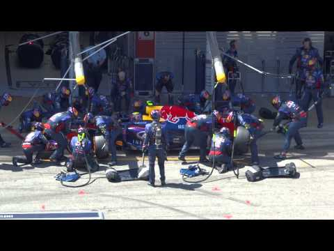 Mark Webber Pitstop Catalunya 2013