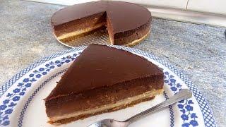 Tarta tres chocolates sin horno