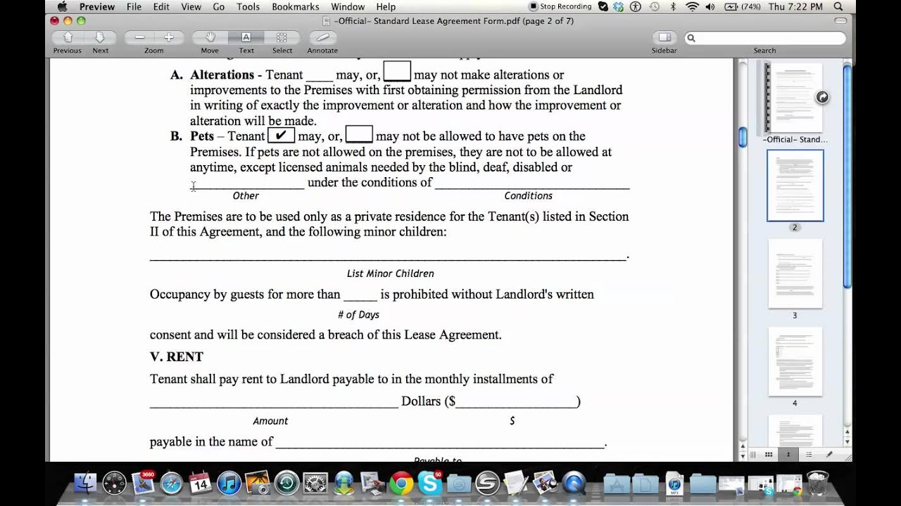 How To Fill Out A Residential Lease Agreement