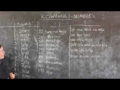 GO! presents: BEST Swahili Tutorial - Video #3 - NUMBERS (Live from Tanzania)