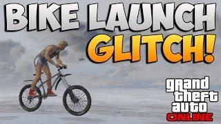 GTA 5 Online: BIKE LAUNCH GLITCH! Bike Teleport / Super