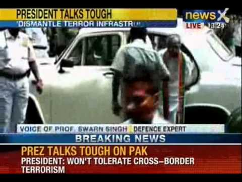 NewsX: President Mr. Mukherjee told to Pakistan that Non-state actors don't come from Heaven