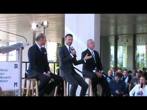 David Beckham brings MLS soccer to Miami (Full announcement) Part 1
