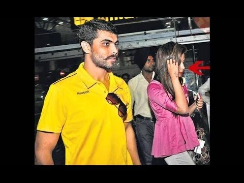 Exclusive:Cricketer Ravindra Jadeja with girlfriend Chetna