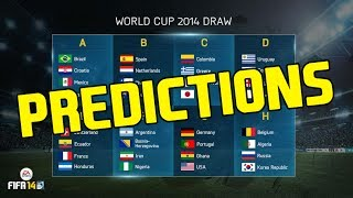 "FIFA World Cup 2014 Groups ""My Thoughts And Predictions"