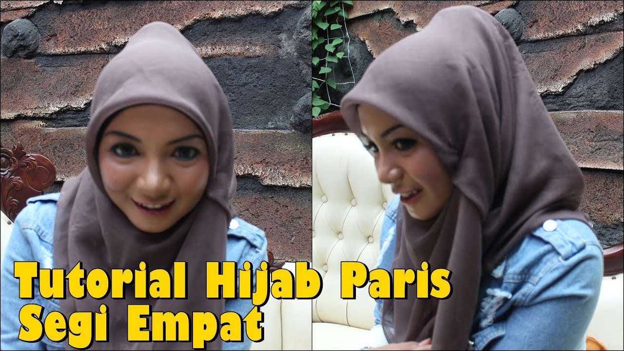 Tutorial Hijab Paris Segi Empat Modern yang Simple untuk Sehari hari ...