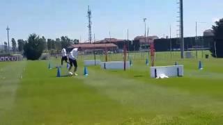 Monaco-Juve, l'allenamento a Vinovo