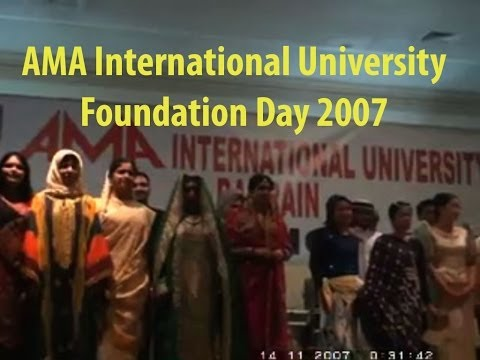 The Cultural Fashion Showdown - AMA International University Bahrain Foundation Day 2007 Part 1-4
