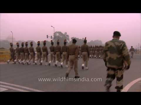 Early morning rehearsals for Republic Day 2014