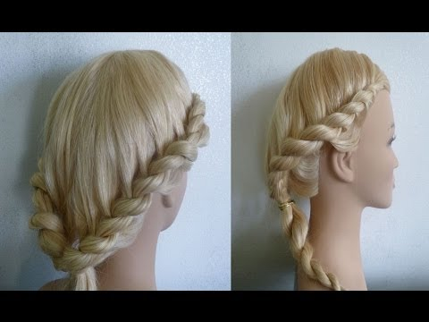 EASY Flecht Frisuren.Zopffrisur.Zwirbelzopf/Gedrehter Zopf.Greek Goddess Braid Hairstyle