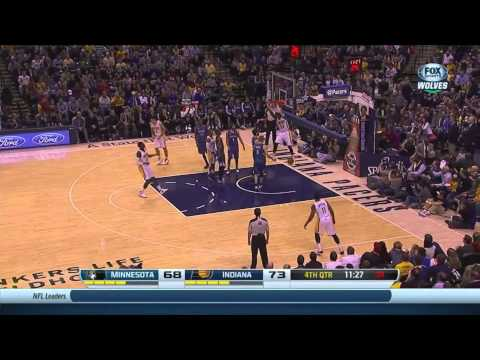 Luis Scola Finds Paul George For the Easy Dunk