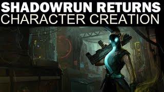Shadowrun Returns - Full Character Creation (All Races, Classes, Skills & Attributes)
