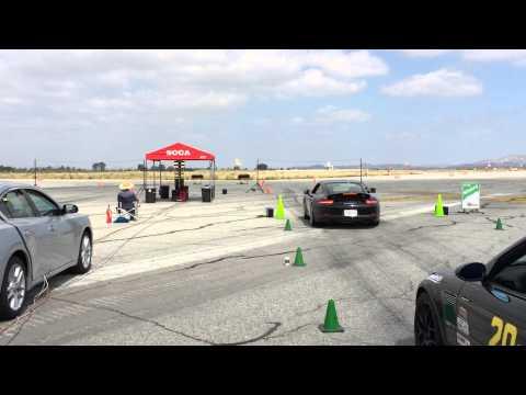 Porsche 991S PDK - SCCA ProSolo Launch - Drag Race