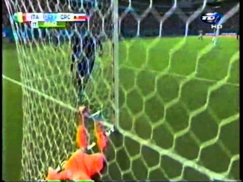 Italia 0 vs Costa Rica 1 gooolazo Bryan Ruiz oooO