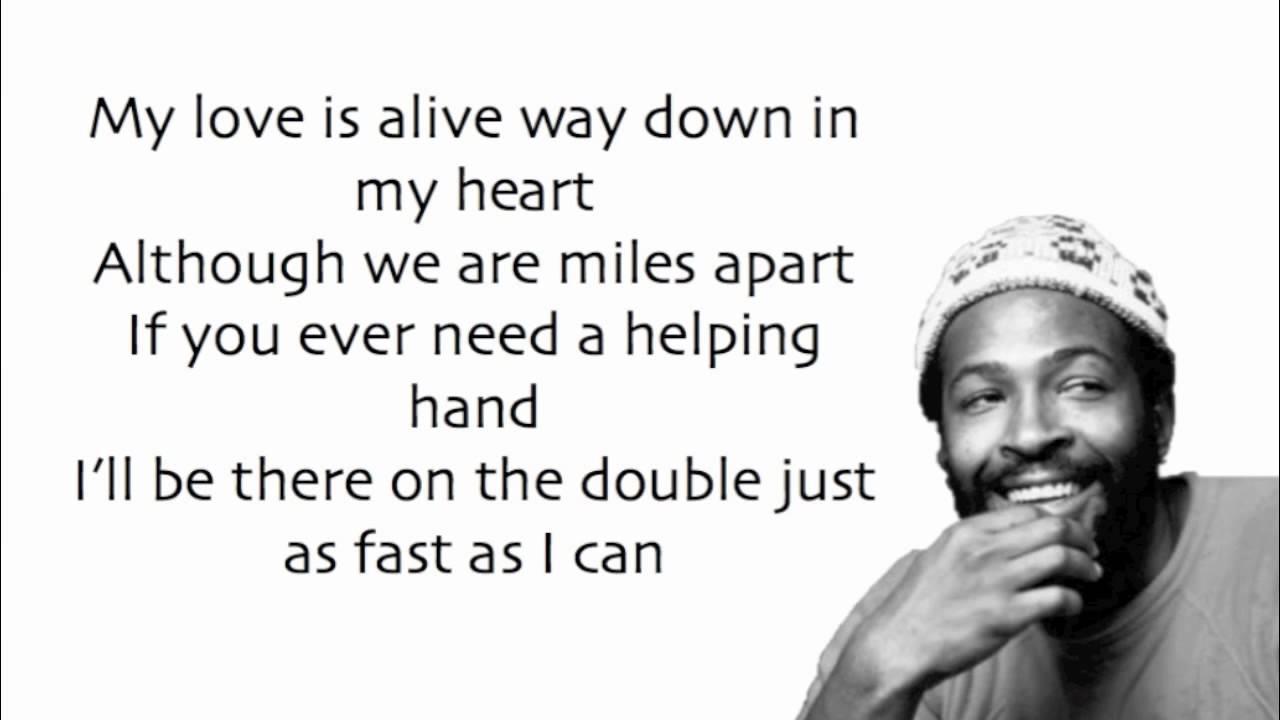 Marvin gaye song lyrics