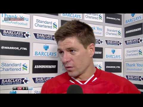 Steven Gerrard's team talk & emotional post match interview