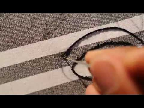 hand embroidery needle work tutorial