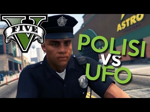 GTA 5 PC Mod - POLISI GILA vs UFO !! - Bahasa Indonesia (Engga Lucu + Ngakak)