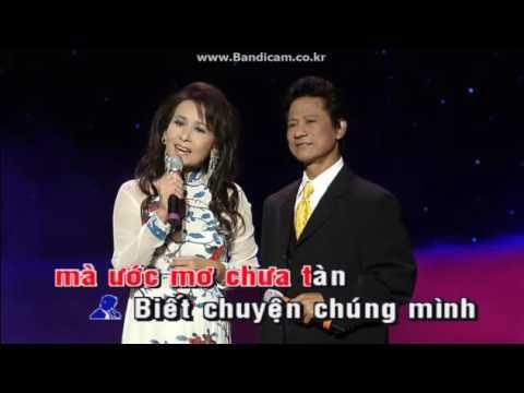 Karaoke Hai Hoa Rung Cho Em ( Song Ca)-  My Dung
