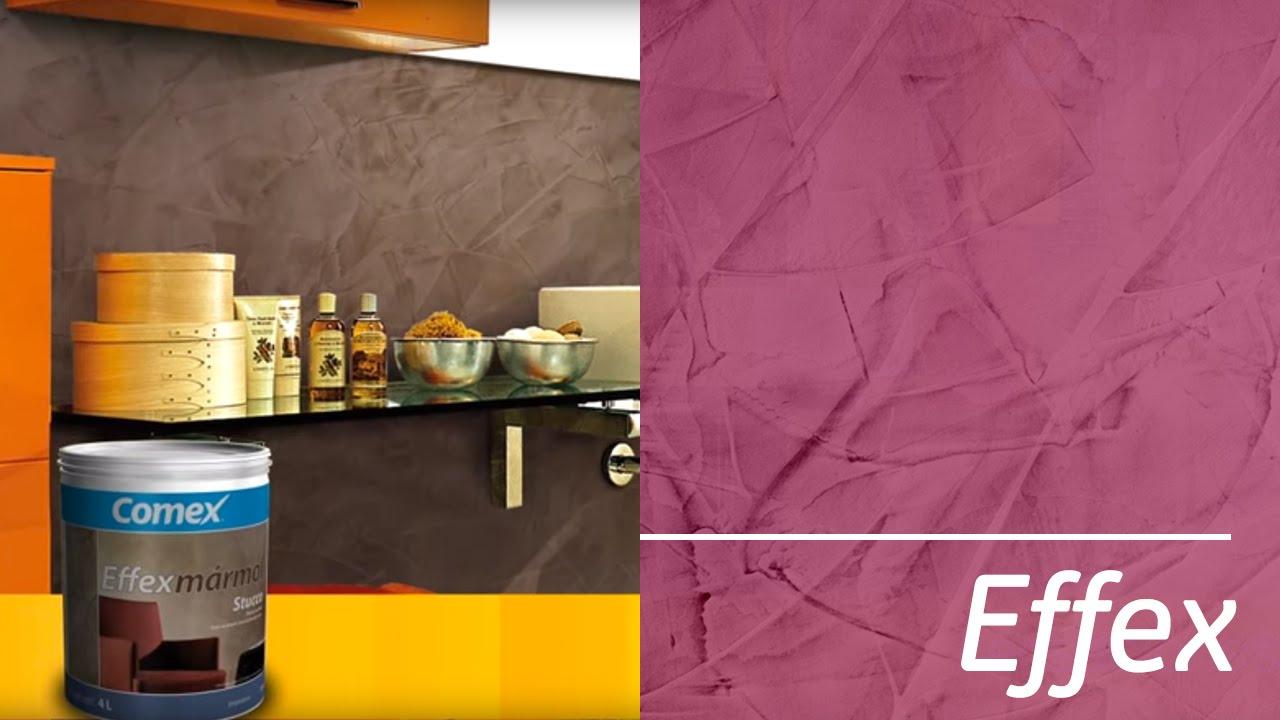 Comex effexm rmol stucco youtube for Marmol color cafe