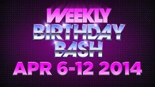 Celebrity Actor Birthdays - April 6-12, 2014 HD