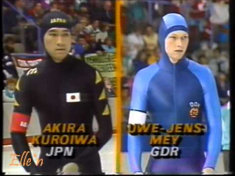 Winter Olympic Games Calgary 1988 – 500 m Mey (WR) – A. Kuroiwa