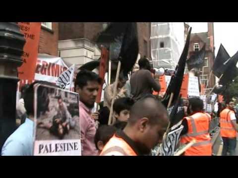 Protest Egypt Embassy London 20 July 2014