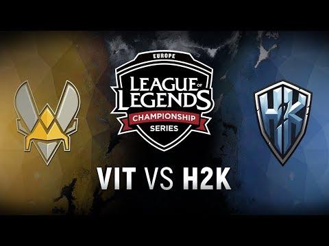 VIT vs. H2K - Quarterfinals Game 2   EU LCS Spring Playoffs   Team Vitality vs. H2k-Gaming (2018)