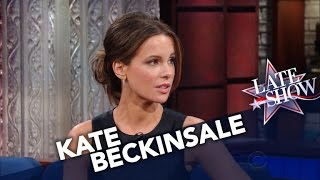Kate Beckinsale Teaches Stephen To Speak Russian